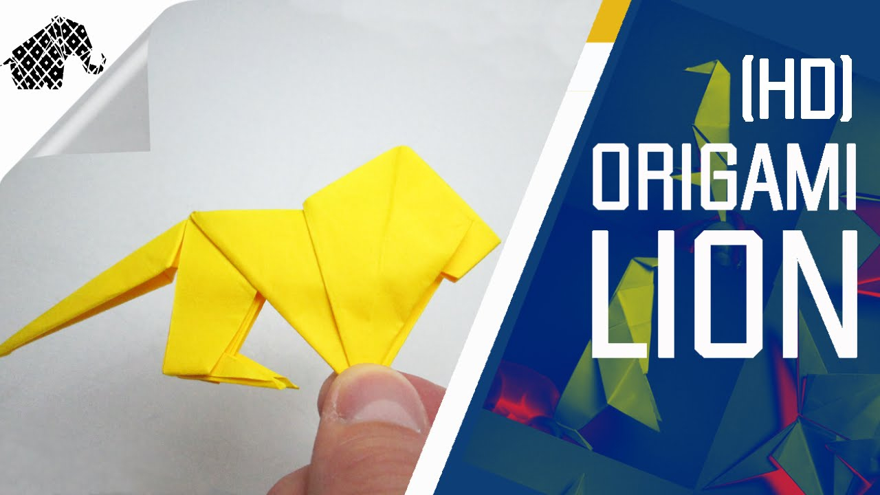 Lion Origami Easy Origami How To Make An Origami Lion