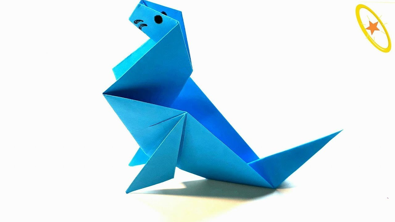 Lion Origami Easy Origami Tutorial How To Fold An Easy Origami Sea Lion Seal