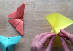 Origami butterfly 3D - YouTube | 175x250