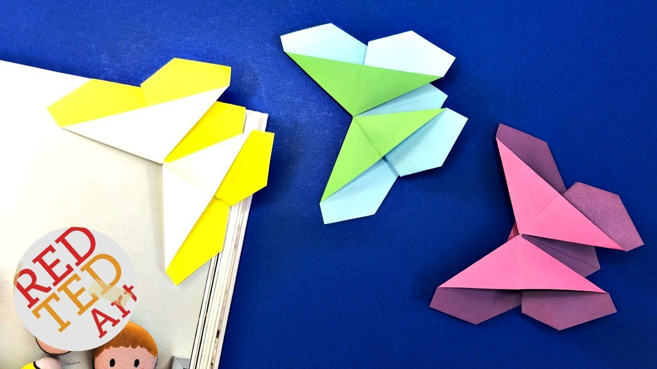 Make Easy Origami Butterfly Easy Origami Butterfly Bookmark Corner How To Make An Origami Bookmark Butterfly Tutorial