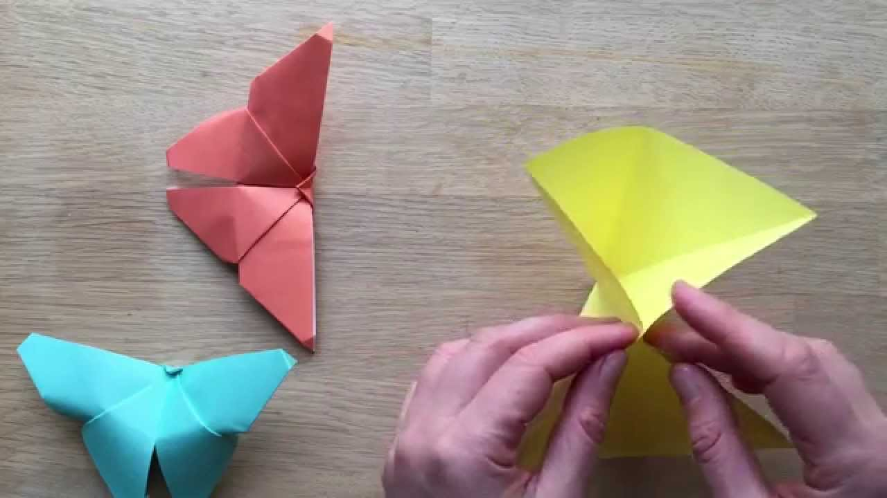Make Easy Origami Butterfly Easy Origami Butterfly