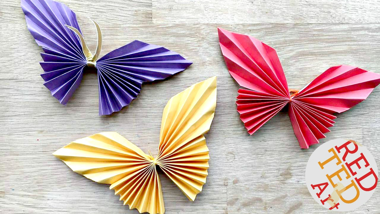 Make Easy Origami Butterfly Easy Paper Butterfly Red Ted Art