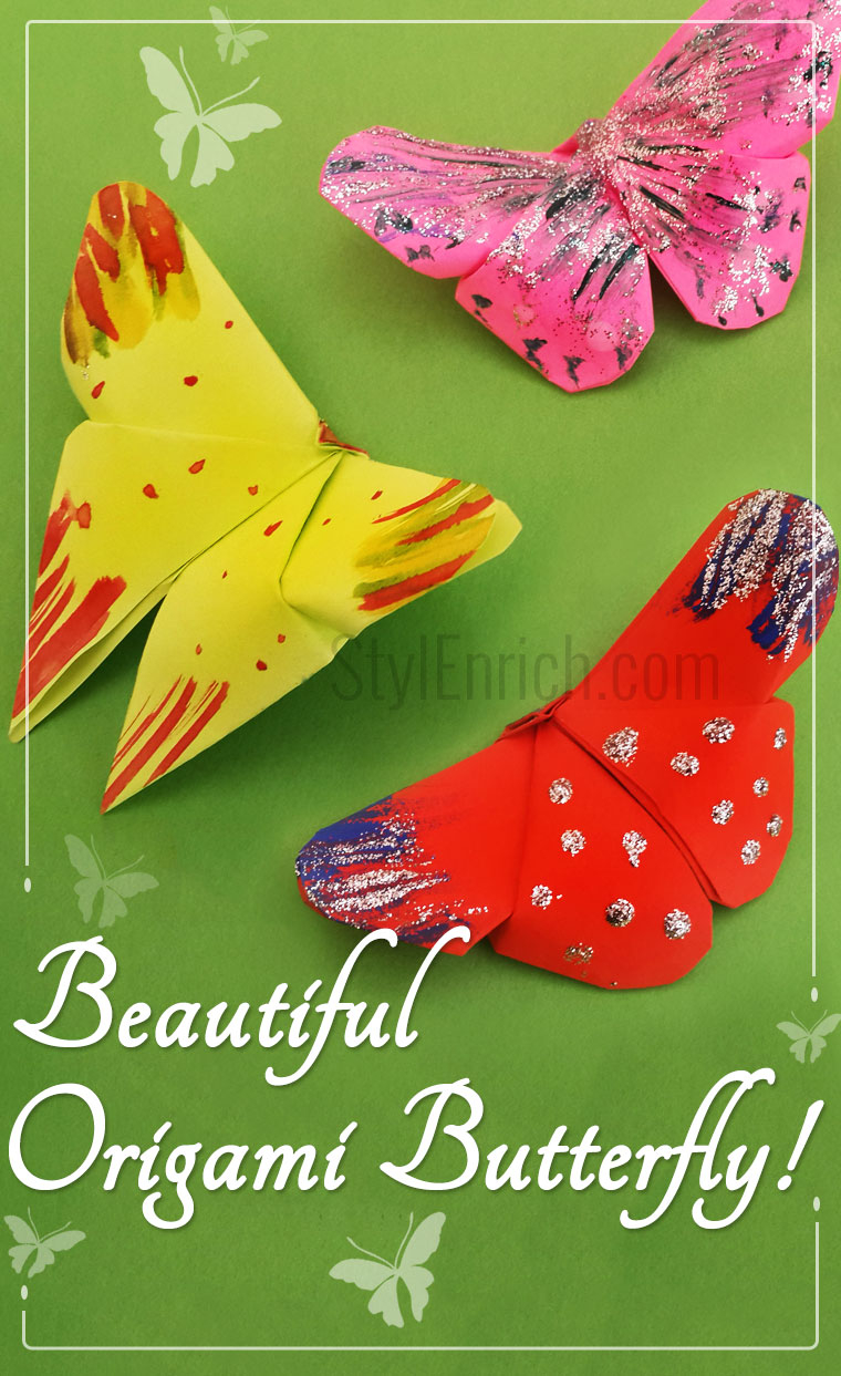 Make Easy Origami Butterfly How To Make An Easy Origami Butterfly Diystylenrich