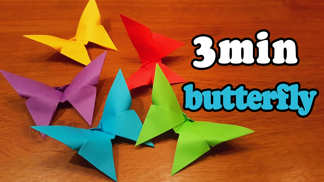 Make Easy Origami Butterfly How To Make An Easy Origami Butterfly In 3 Minutes