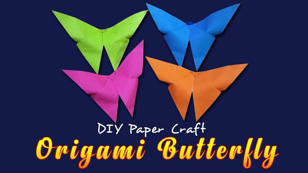 Make Easy Origami Butterfly How To Make An Easy Origami Butterfly Step Step