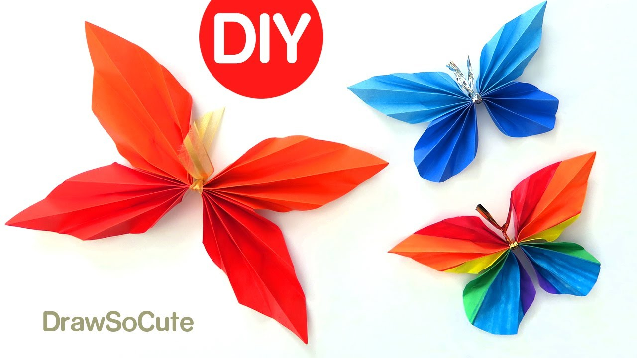 Make Easy Origami Butterfly How To Make An Easy Origami Butterfly