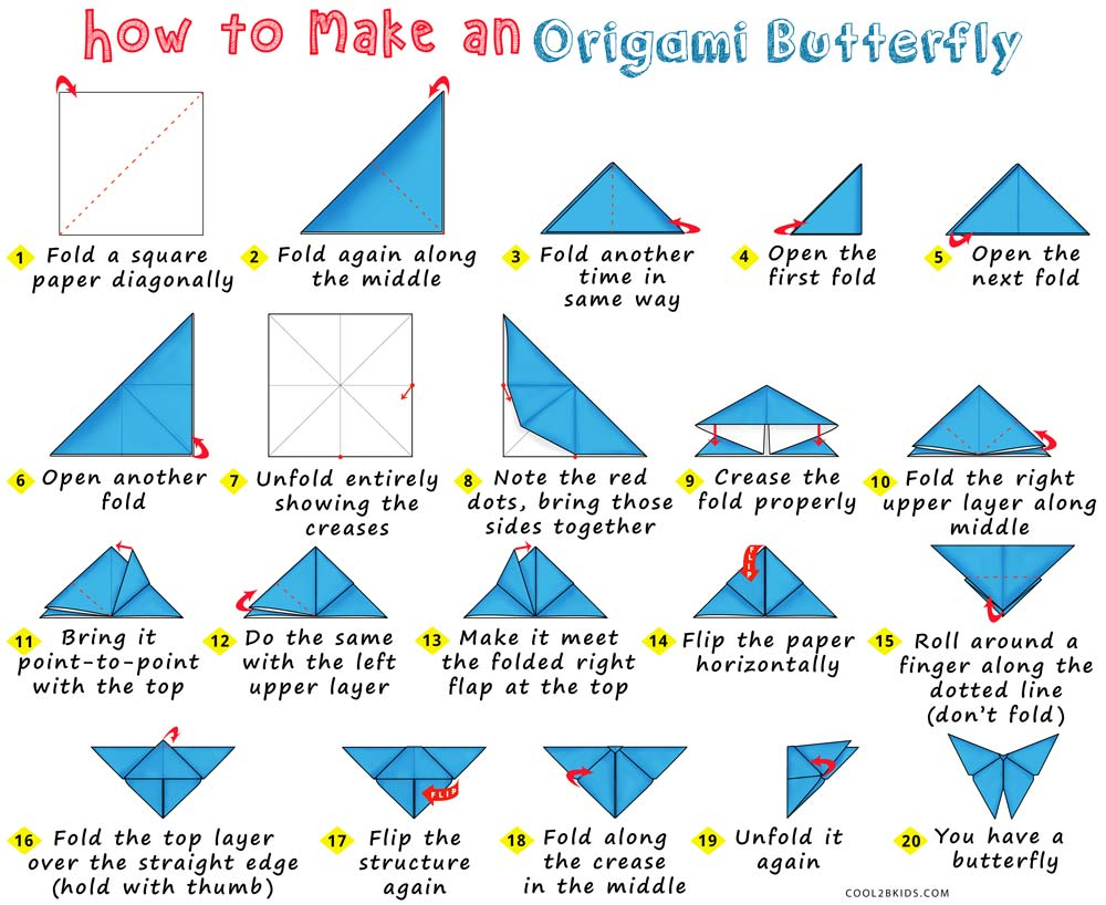 Make Easy Origami Butterfly How To Make An Origami Butterfly Cool2bkids