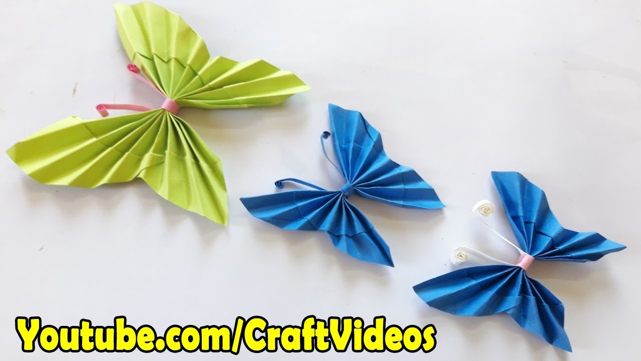 Make Easy Origami Butterfly How To Make Paper Butterfly Easy Origami Butterfly For Beginners