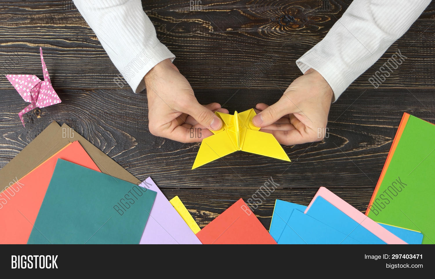 Make Easy Origami Butterfly Man Made Origami Image Photo Free Trial Bigstock