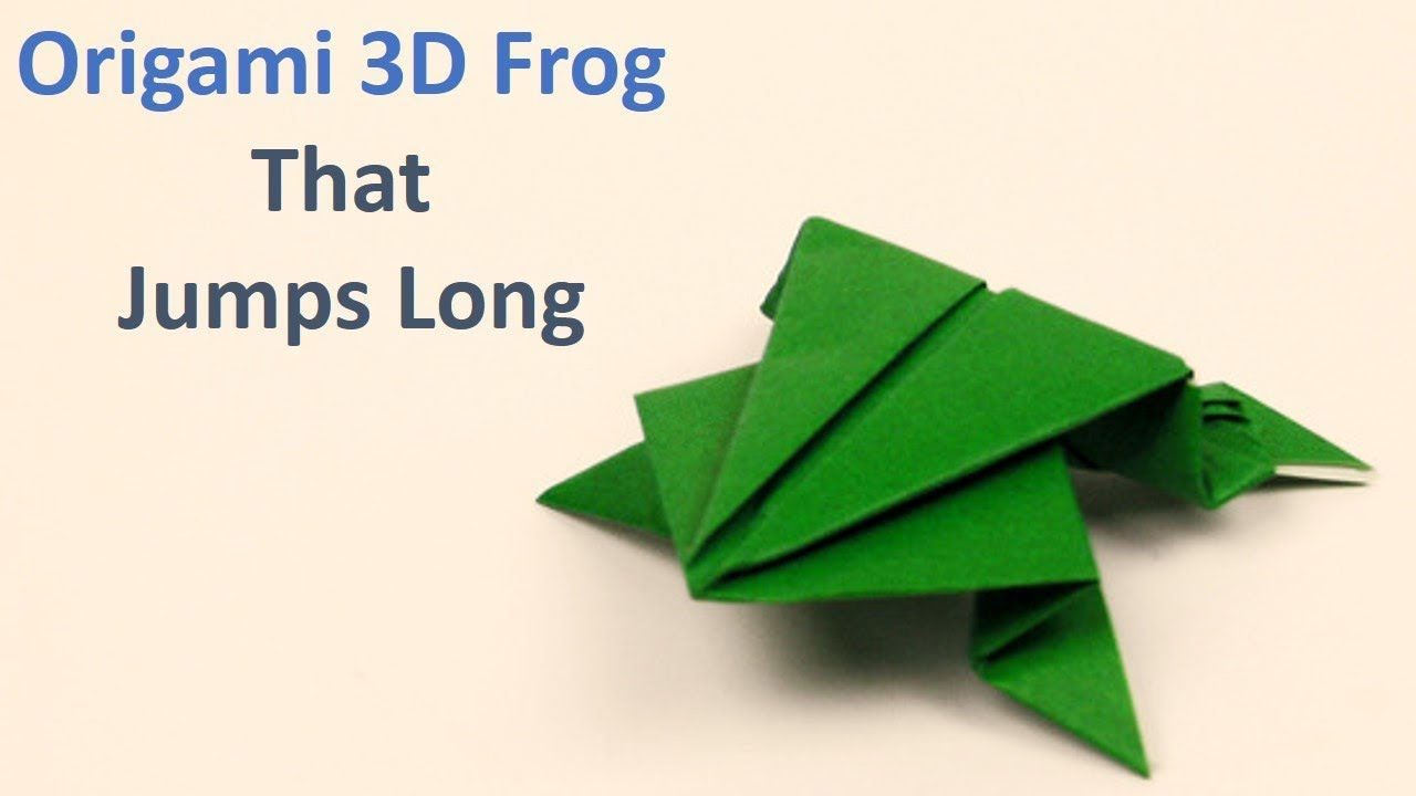Money Frog Origami How To Create An Origami Jumping Frog Origami Wonderhowto