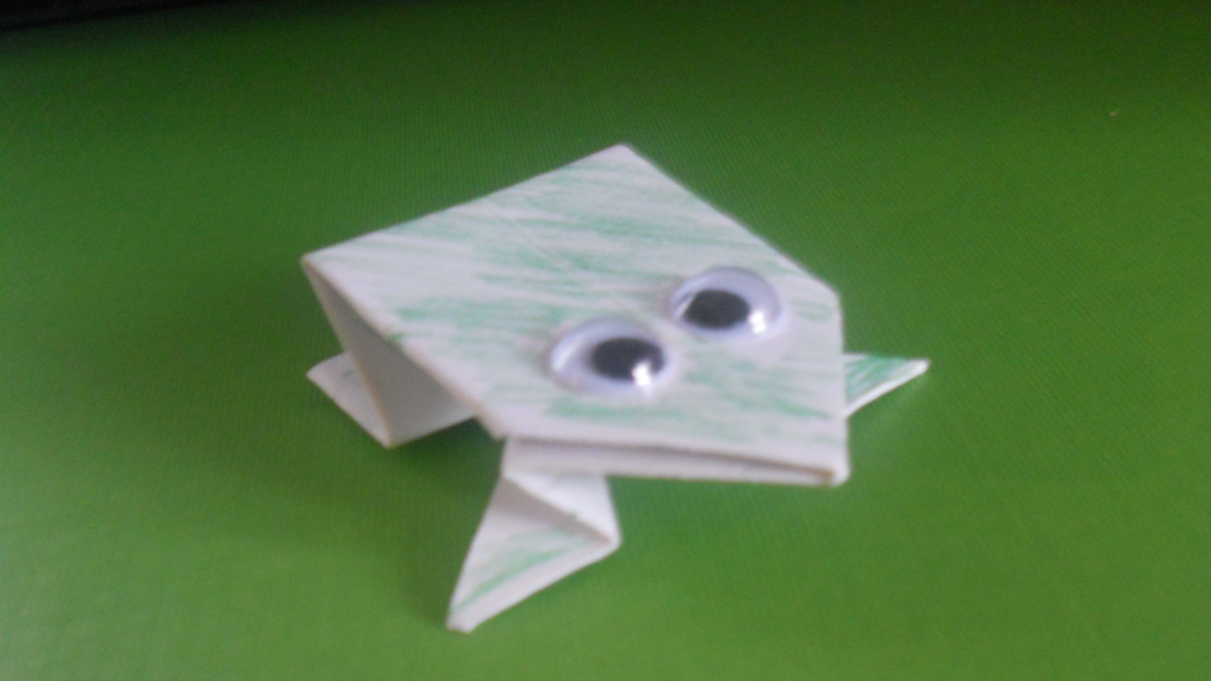 Money Frog Origami How To Fold An Origami Jumping Frog