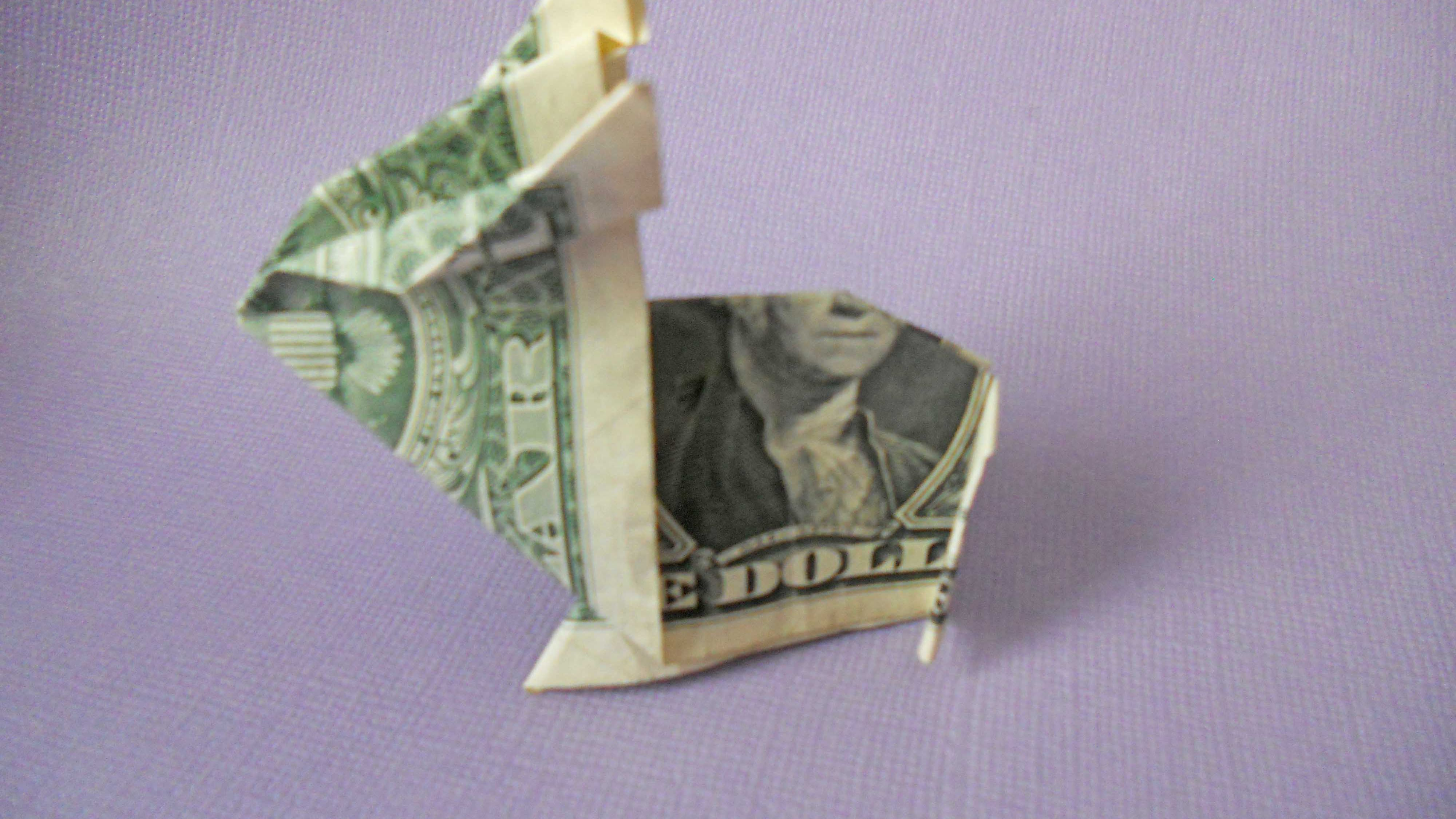 Money Frog Origami How To Make A Crafty Origami Bunny Out Of Cash