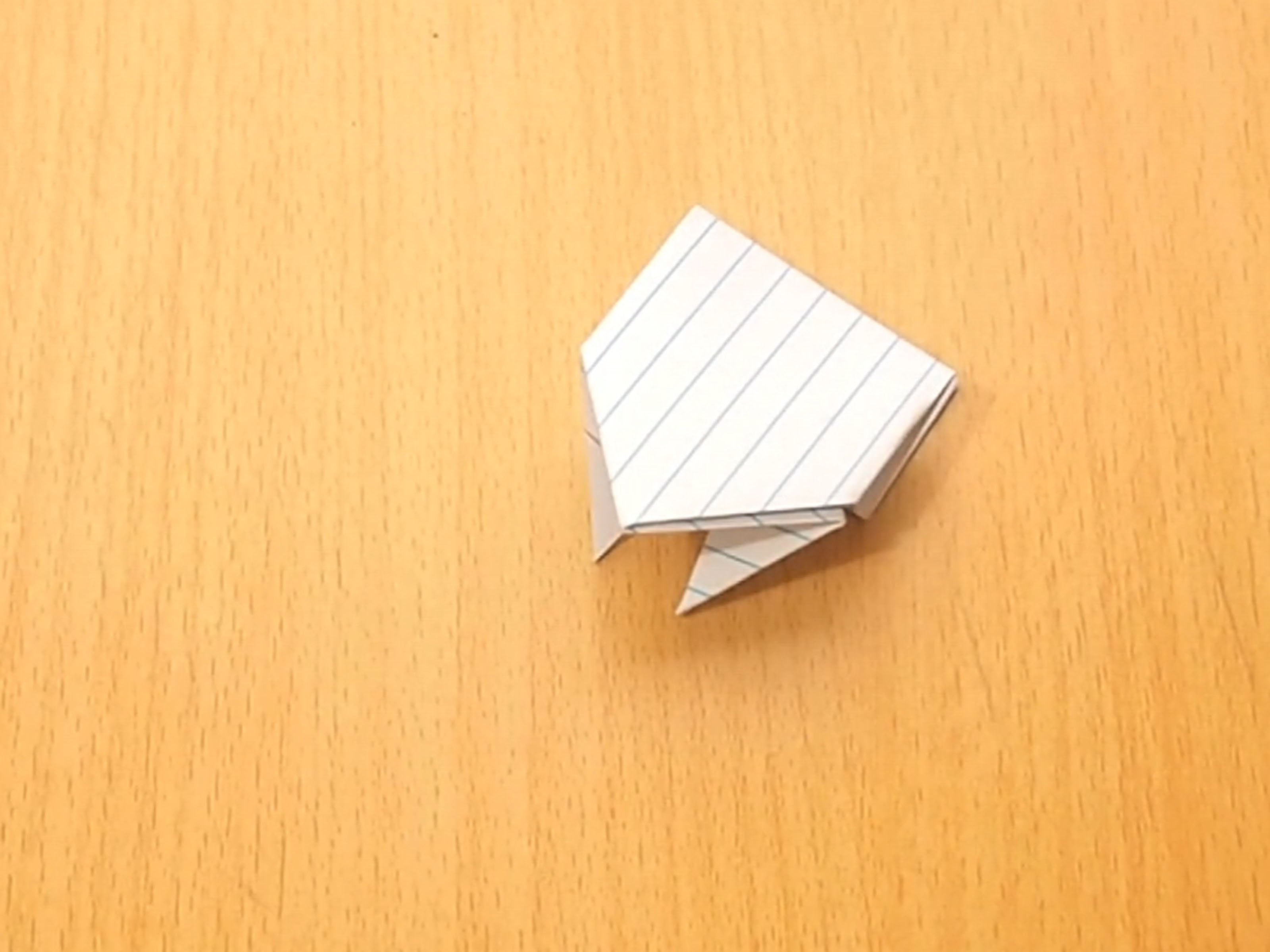 Money Frog Origami How To Make An Origami Jumping Frog From An Index Card 10 Steps