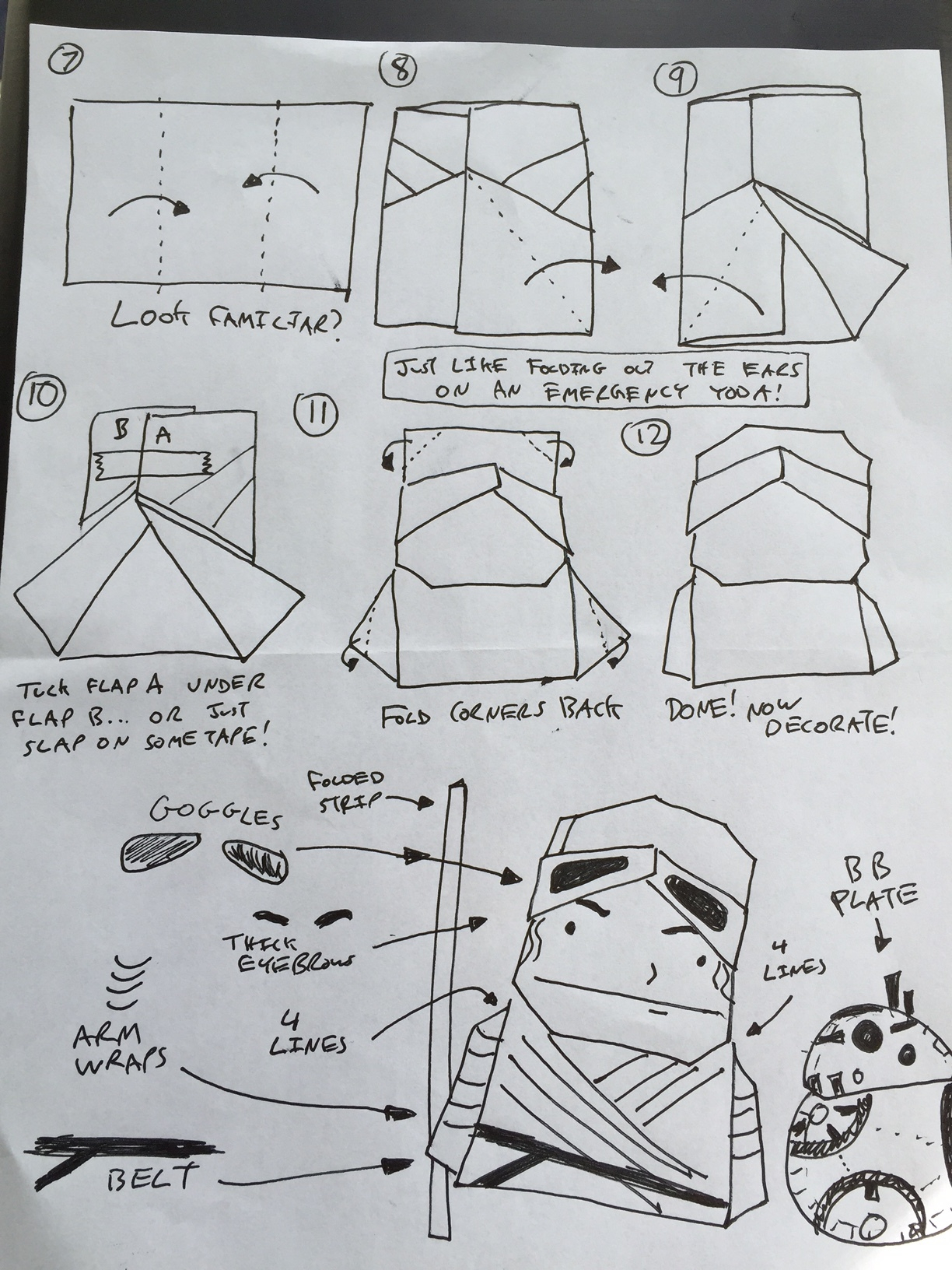 Origami Advanced Diagrams Star Wars Origami A List Of Online Diagrams For Folding Your Own