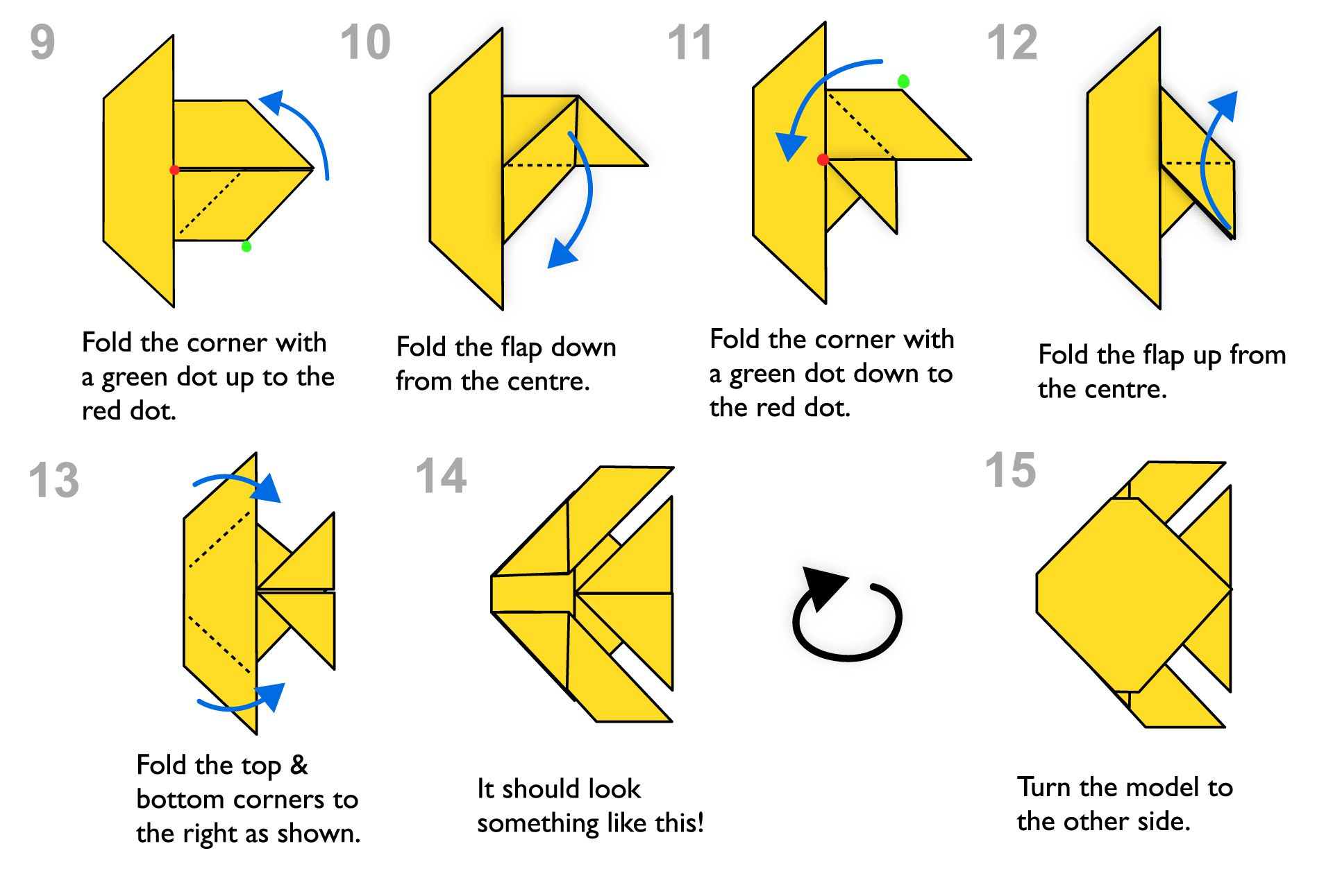 Origami Advanced Diagrams Step Step Instructions For Making An Origami Fish