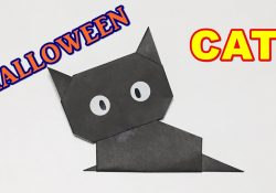 Origami Black Cat How To Make A Paper Cat Origami Halloween Black Cat Easy But Cute For Kids Halloween Craft