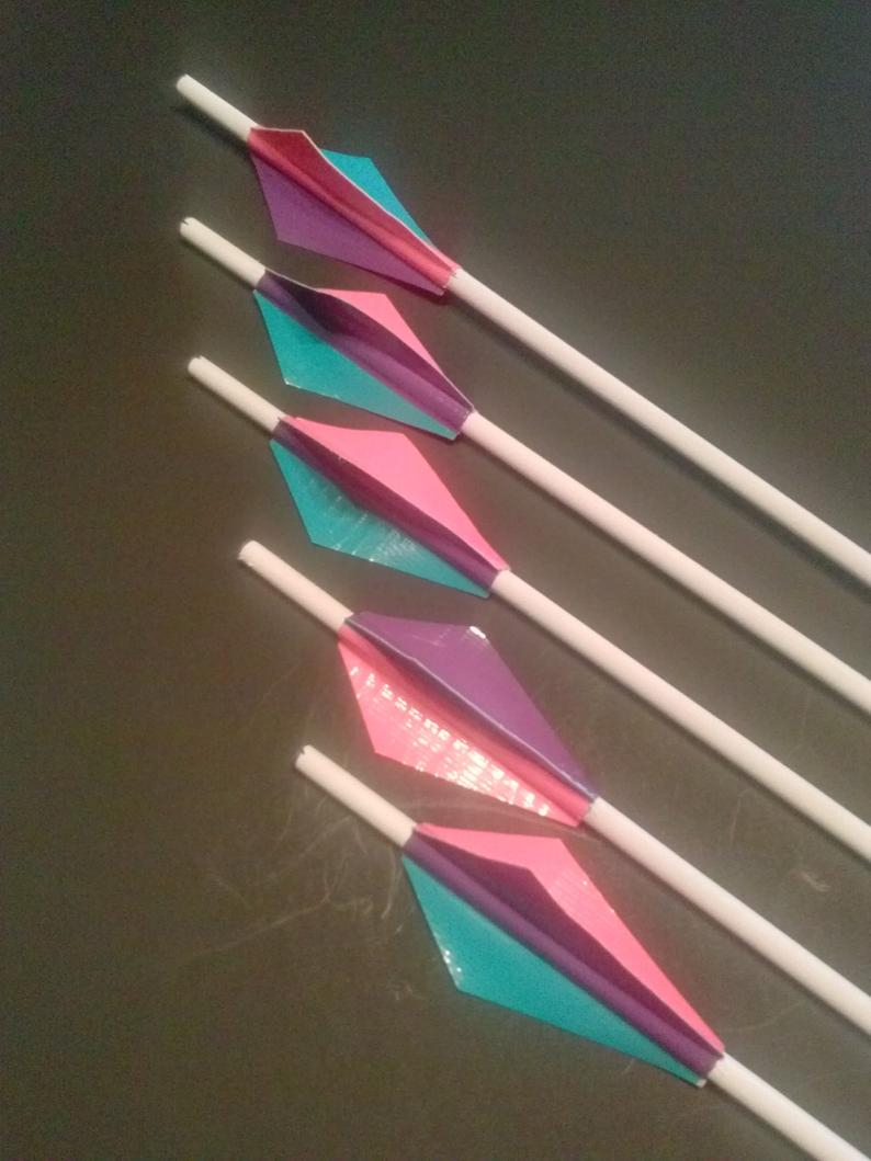 Origami Bow And Arrow Bow And Arrow Toy Kids Girl Boy Set Colorful Childrens Gift Outdoor Safe Pink Purple Teal Custom Easter Gift