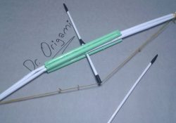 Origami Bow And Arrow Diy How To Make Paper Bow And Arrow Toy Weapons Very Smple