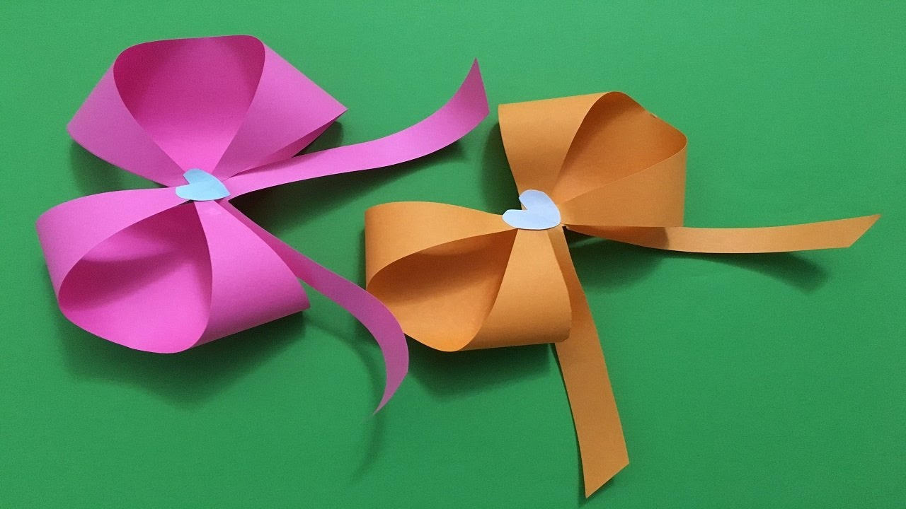 Origami Bow And Arrow How To Make An Easy Beautiful Origami Paper Bow Tutorialribbon Origami Bow Folding Instructions