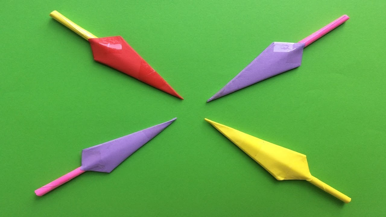Origami Bow And Arrow Origami How To Make A Paper Ninja Weapon Origami Easy And Super