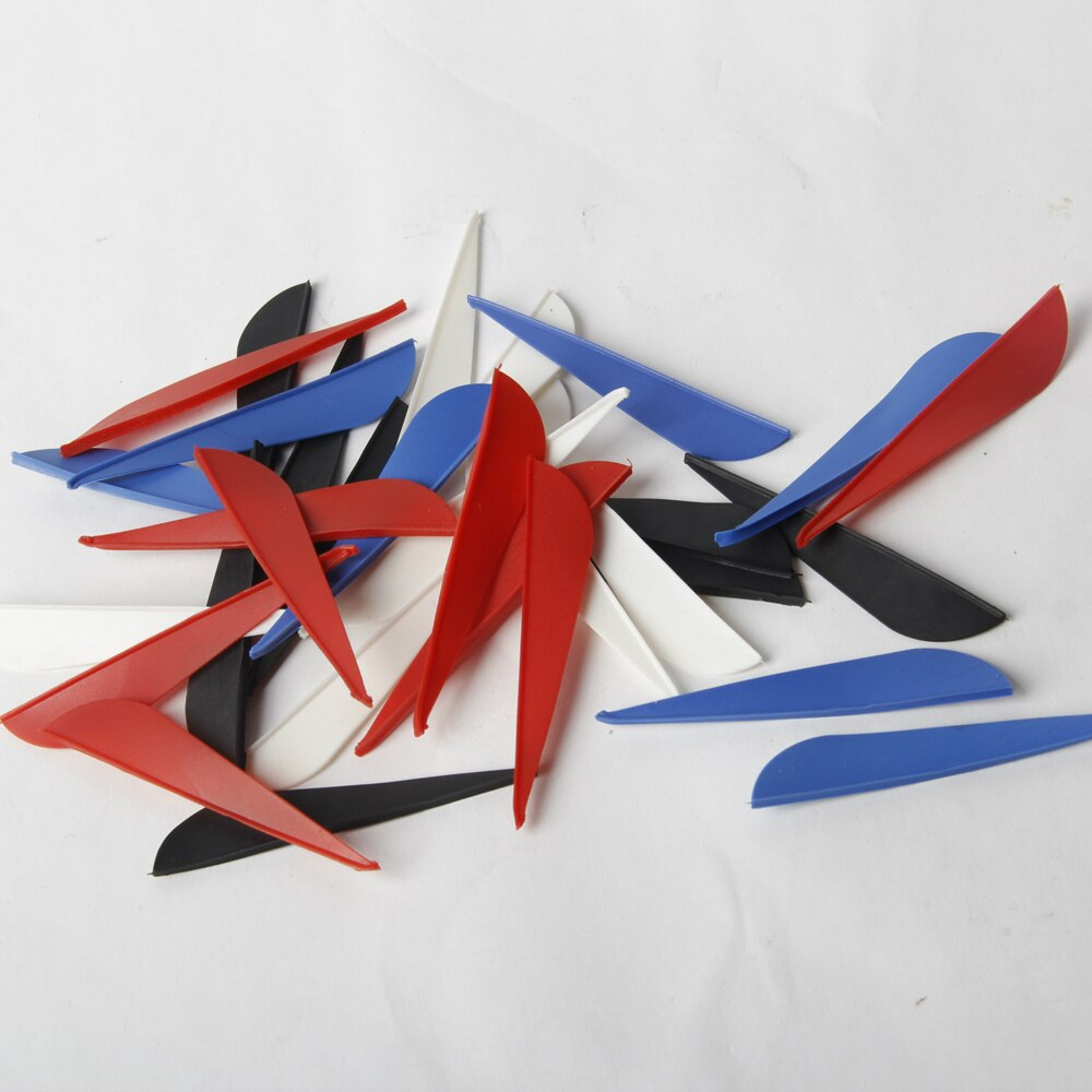 Origami Bow And Arrow Us 1599 100pcs 3 Tpu Rubber Arrow Vanes Red Blue White Black Four Color Plastic Hunting And Archery Bow Arrow Feathers In Bow Arrow From Sports