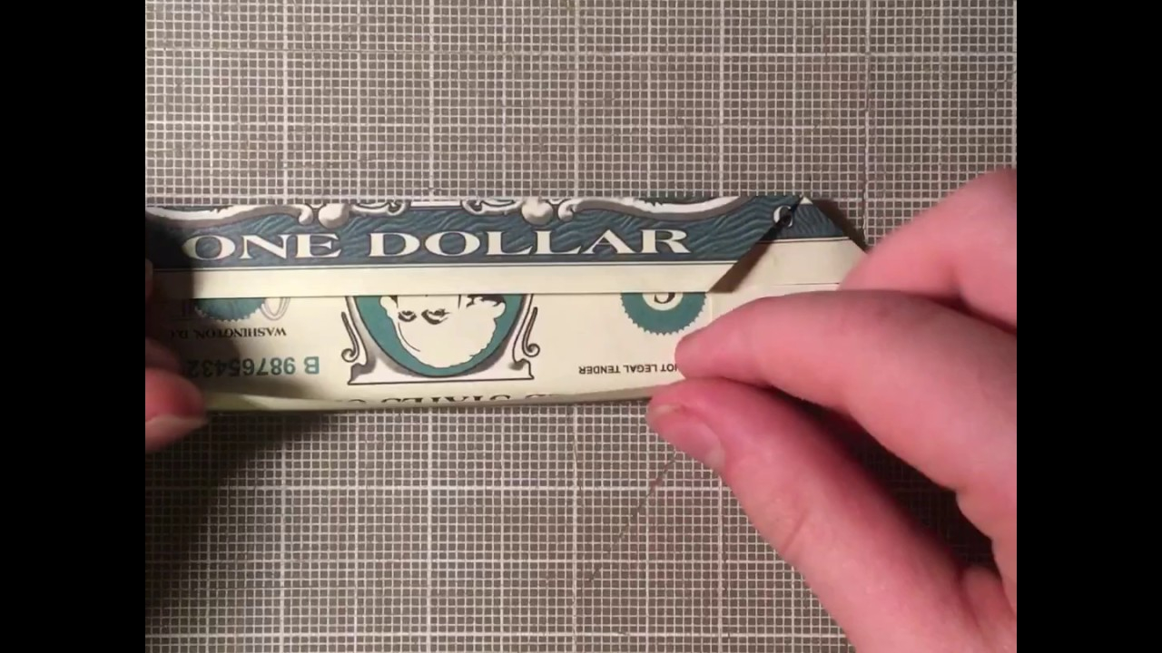 Origami Bow Tie Dollar Bill How To Make A Origami Bow Tie From A Dollar Bill