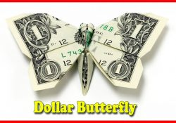 Origami Butterfly Dollar Bill How To Make A Money Origami Butterfly Tutorial Diy At Home