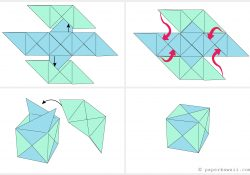 Origami Cube Instructions How To Make A Modular Origami Cube Box