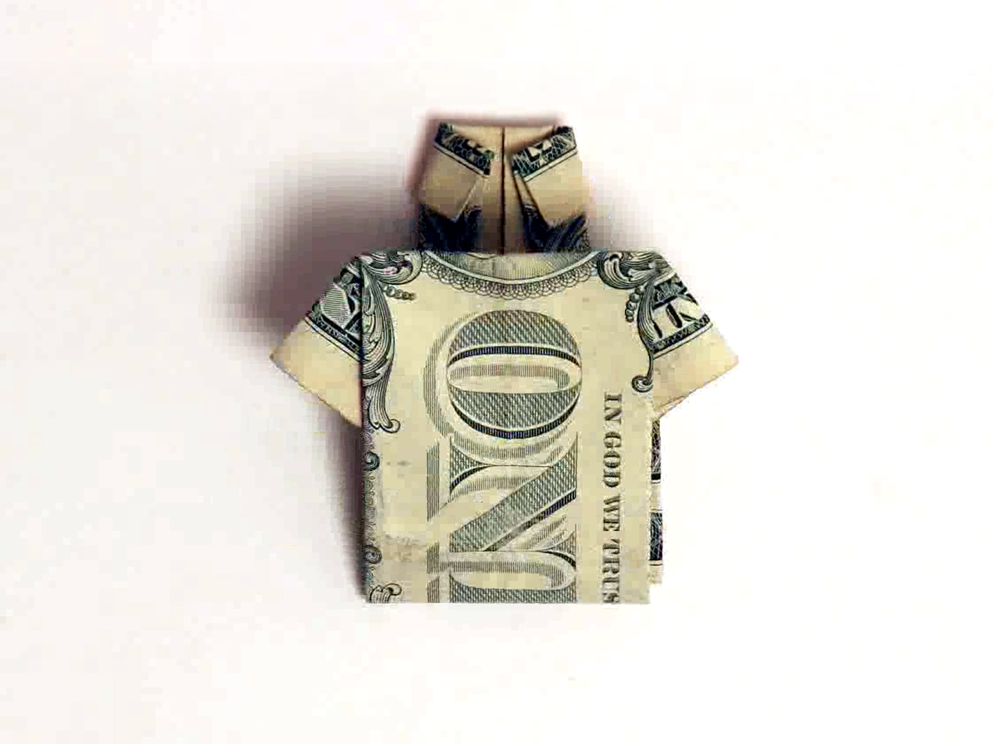 Origami Dollar Bill Shirt With Tie How To Make A Shirt Out Of A One Dollar Bill 8 Steps
