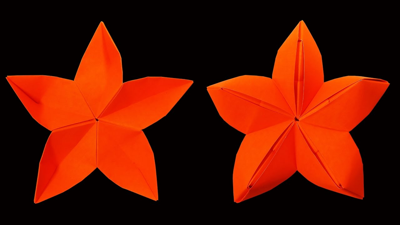 Origami Flower Star How To Make A Origami Star Flower Christmas Crafts Hd