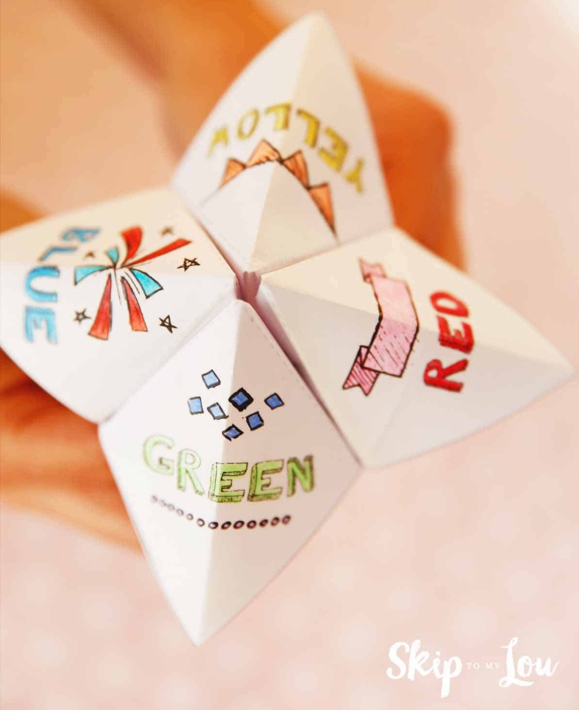 Origami Fortune Teller Sayings How To Make A Fortune Teller Skip To My Lou