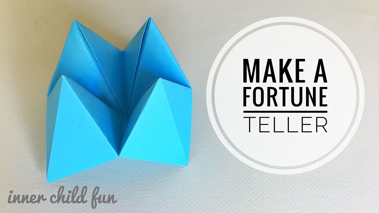 Origami Fortune Teller Sayings How To Make Paper Fortune Tellers Inner Child Fun