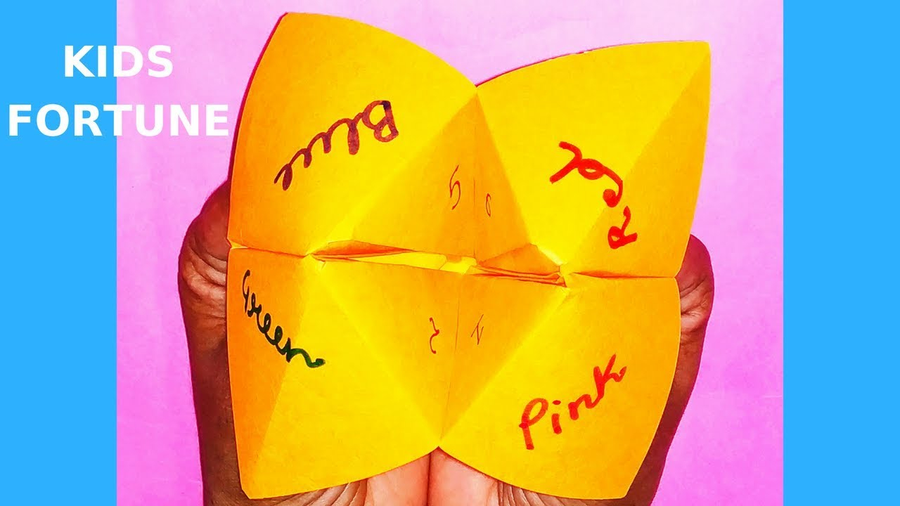 Origami Fortune Teller Sayings Lets Try Your Fortune Fortune Teller Origami Fortune Childhood Game