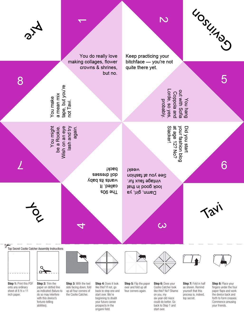 Free Paper Fortune Teller Printable Templates | Welcome to the ... | 1386x1027