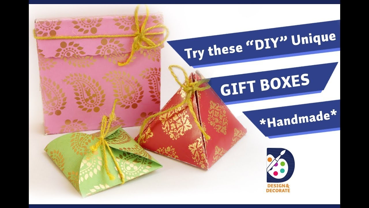 Origami Gift Boxes 3 Unique Gift Boxes Origami Gift Boxes Diy Crafts