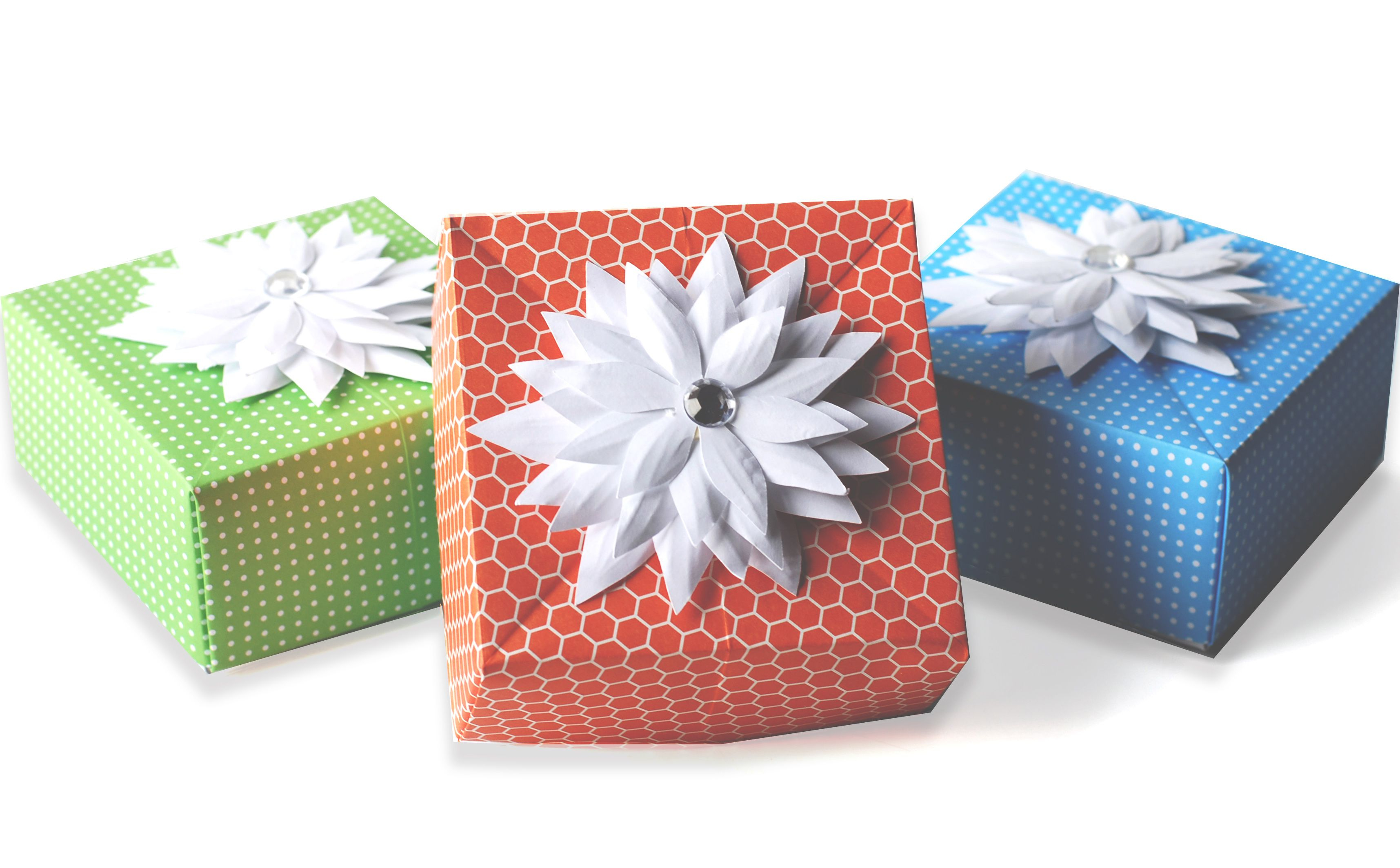 Origami Gift Boxes Diy Origami Gift Box Paper Craft