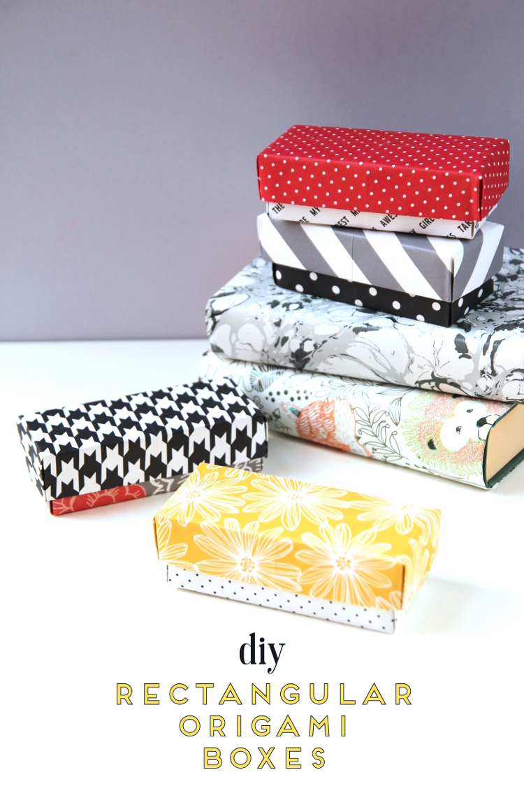 Origami Gift Boxes Diy Rectangular Origami Gift Boxes Obsigen