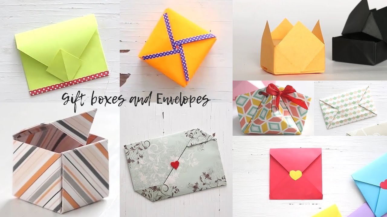 Origami Gift Boxes Easy Gift Boxes And Envelopes Gift Ideas Ventunoart Compilation