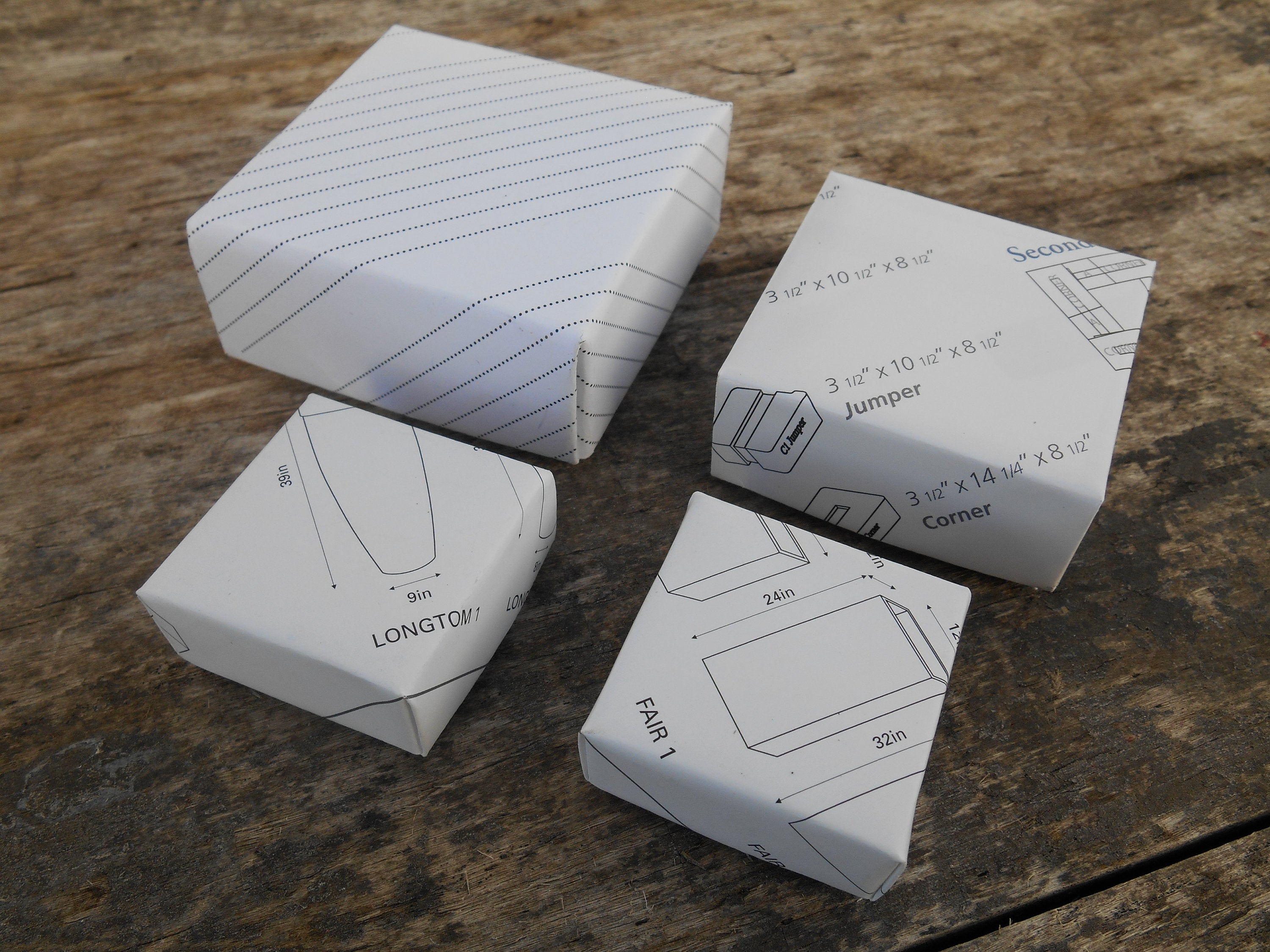 Origami Gift Boxes Lot Of Four Handmade Origami Gift Boxes 1 Medium 1 Medium Small And 2 Small Black And White Catalog Pages Jewelry Gift Boxes