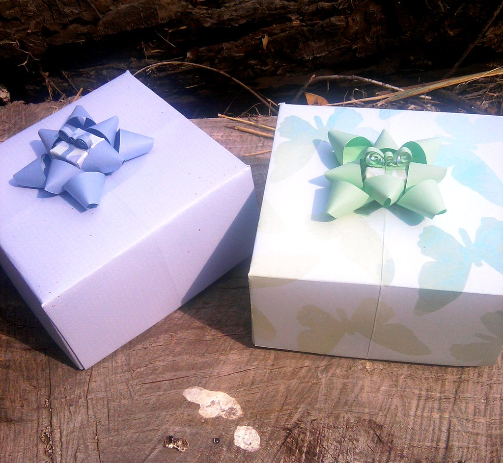 Origami Gift Boxes Origami Gift Boxes Wbow On Lid Set Of 2 This Is A Set O Flickr