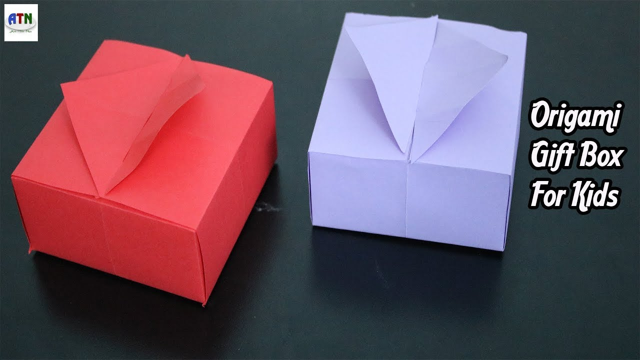 Origami Gift Boxes Origami Gift Boxes With One Sheet Paper For Kids