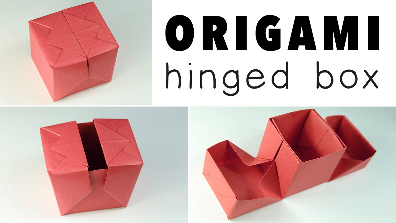 Origami Gift Boxes Origami Hinged Gift Box Tutorial Diy