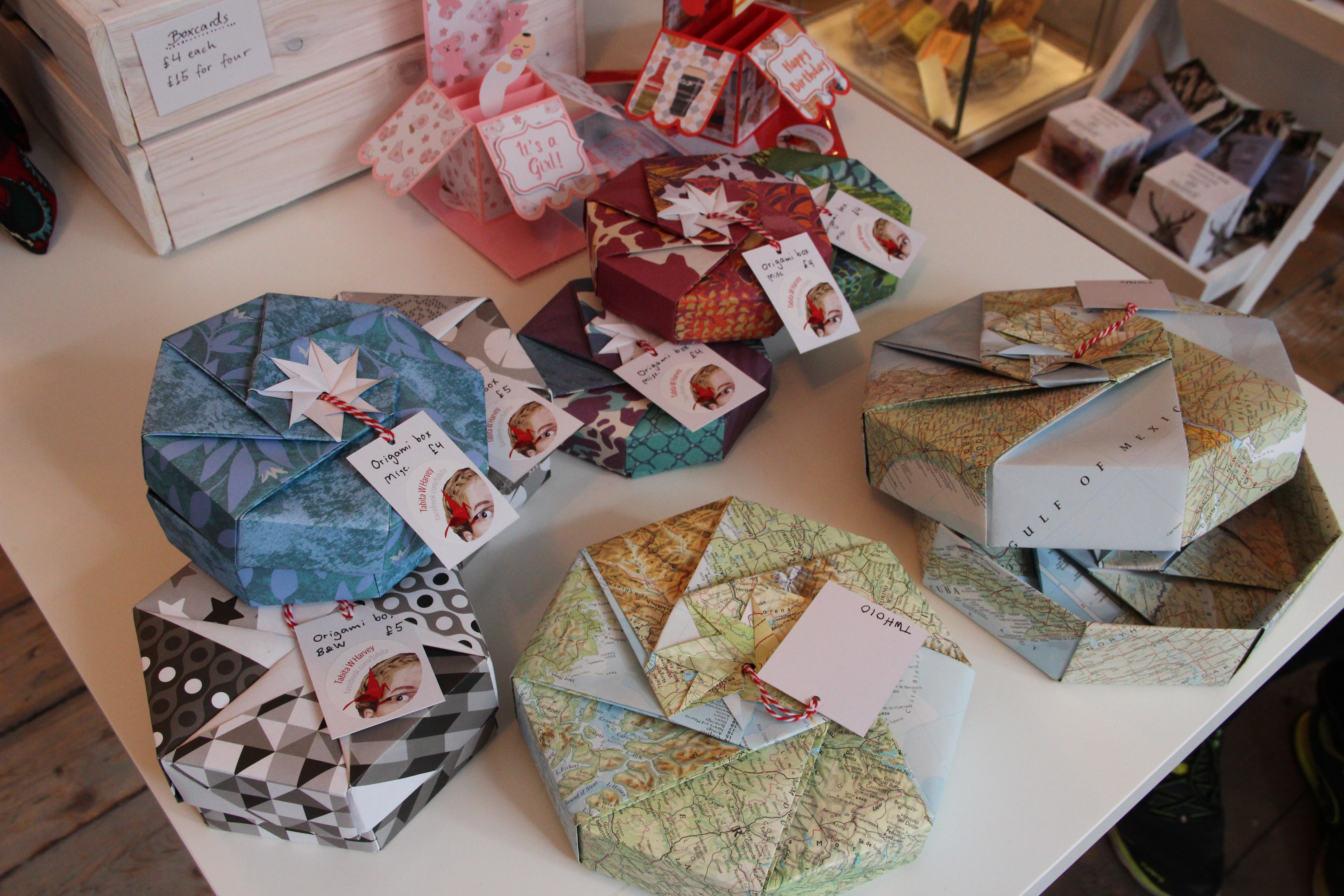 Origami Gift Boxes Papercraft Origami Gift Boxes Art Craft Collective