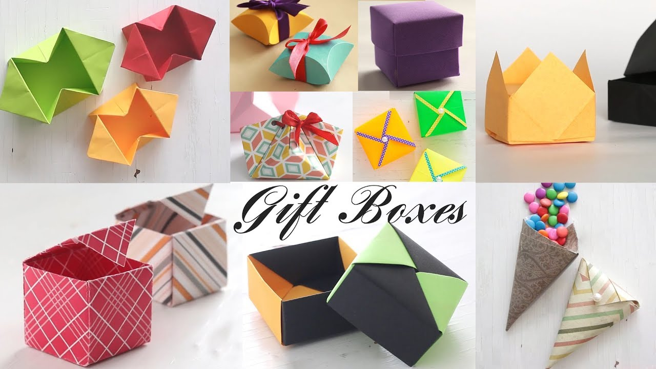 Origami Gift Boxes Top 10 Gift Box Paper Boxes Diy Activities
