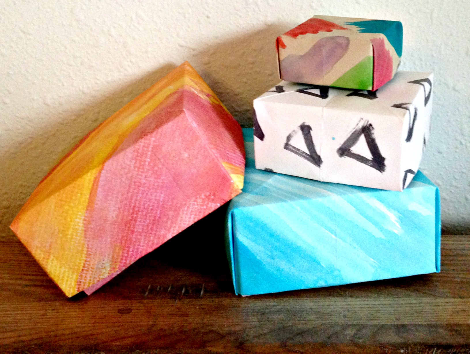 Origami Gift Boxes Watercolor Origami Gift Box Hannahs Loop