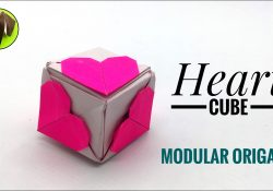 Origami Heart Cube Heart Cube For Valentines Day Diy Origami Tutorial Paper Folds