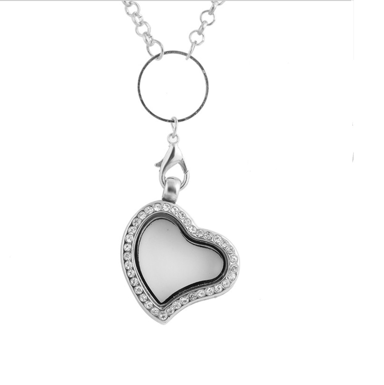 Origami Owl Over The Heart Chain Glass Magnetic Locket Heart Necklace For My Floating Charms Origami Pendant Owl Rhinestone Wedding Living Silver With Long Chain Legacy