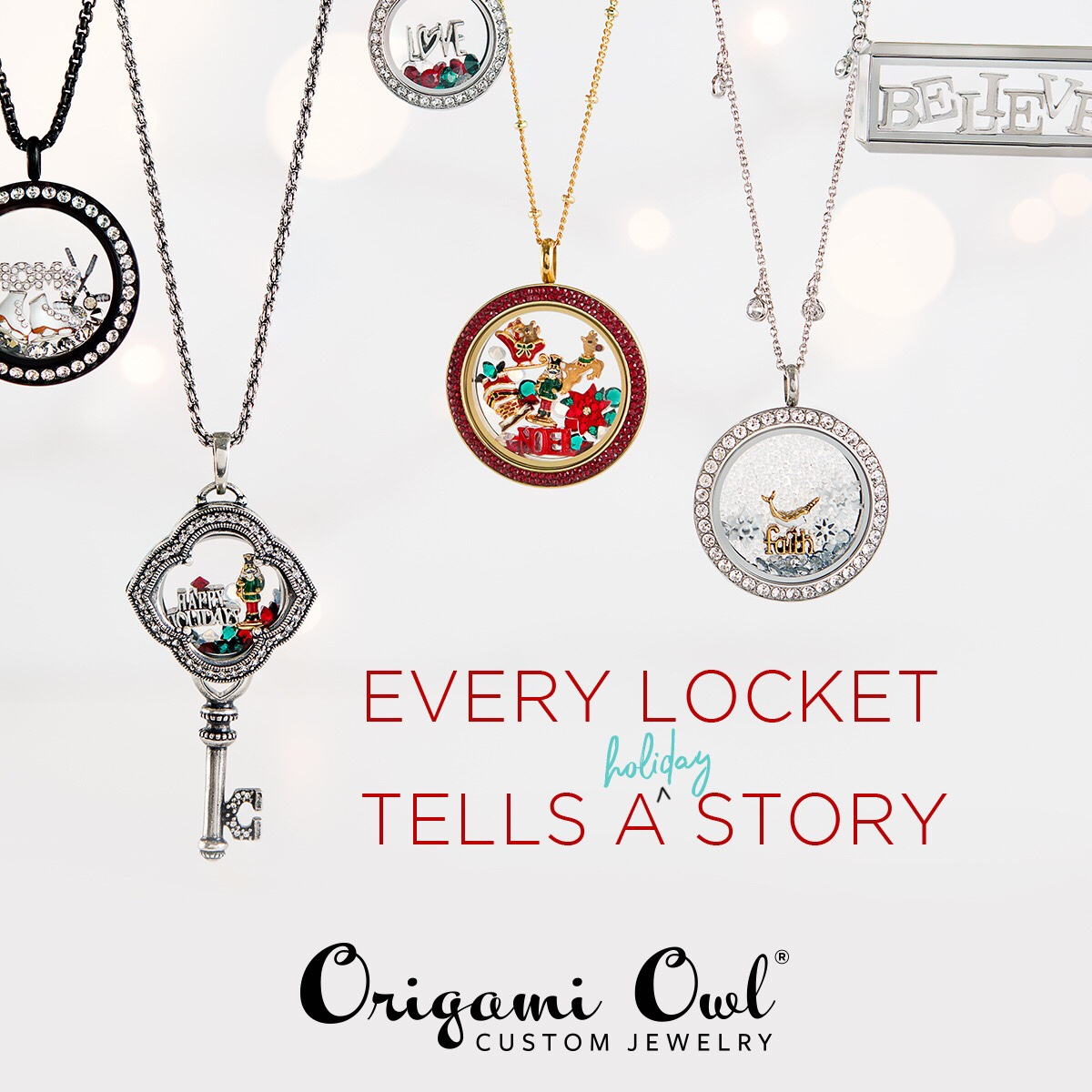 Origami Owl Over The Heart Chain Holiday Gift Guide Clara Martinez