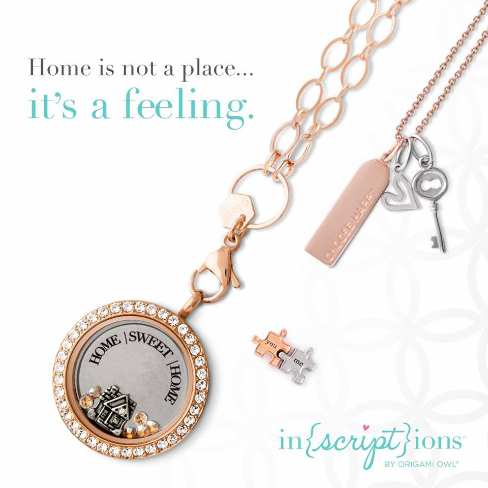 Origami Owl Over The Heart Chain Inscriptions Home Sweet Home Origami Owl Living Locket Origami Owl