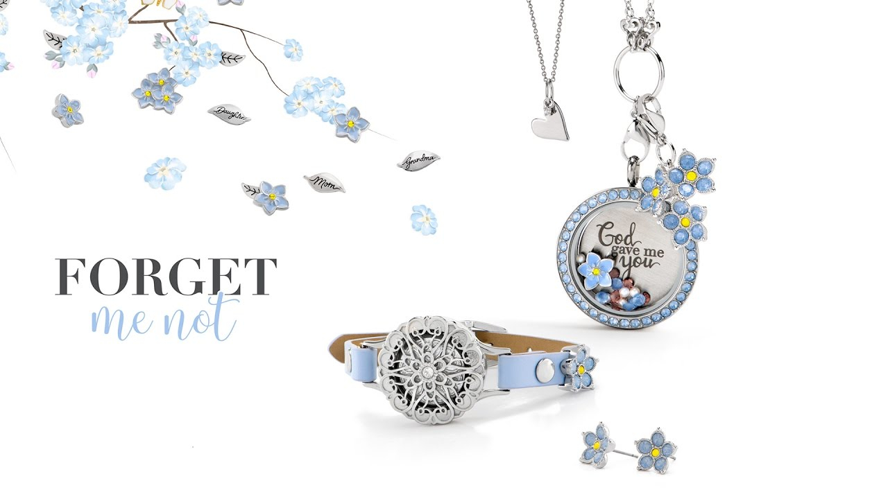 Origami Owl Over The Heart Chain Origami Owl Gifting 2017 Forget Me Not Collection